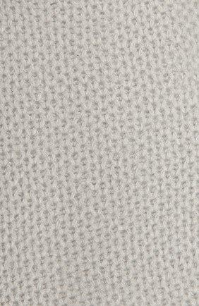 Детский кашемировый шарф GIORGETTI CASHMERE светло-серого цвета, арт. MB1696/8A   Фото 2