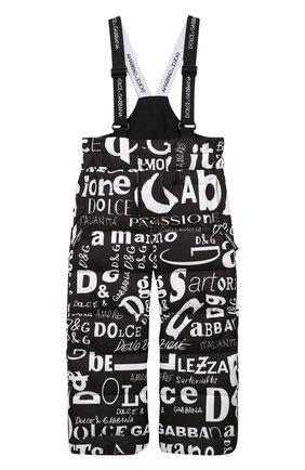 Детские утепленные брюки DOLCE & GABBANA черно-белого цвета, арт. L4JPZ8/FSSES | Фото 1
