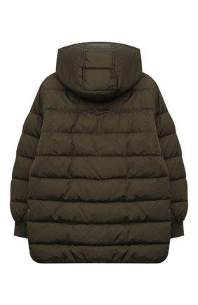Детский пуховая куртка DOLCE & GABBANA хаки цвета, арт. L4JB2B/G7XKN/8-14 | Фото 2