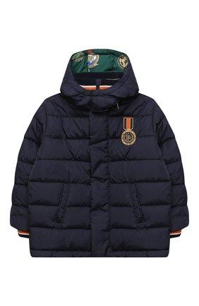 Детский пуховая куртка DOLCE & GABBANA темно-синего цвета, арт. L4JB10/G7XDE/8-14 | Фото 1