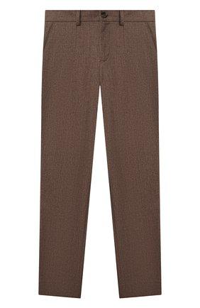 Детские хлопковые брюки DOLCE & GABBANA коричневого цвета, арт. L42P83/G7XLF/2-6   Фото 1