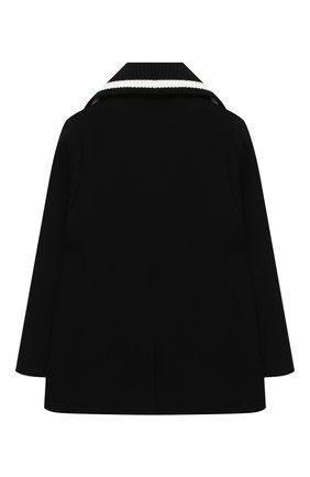 Детское шерстяное пальто DOLCE & GABBANA черного цвета, арт. L41C93/G7XID/8-14 | Фото 2