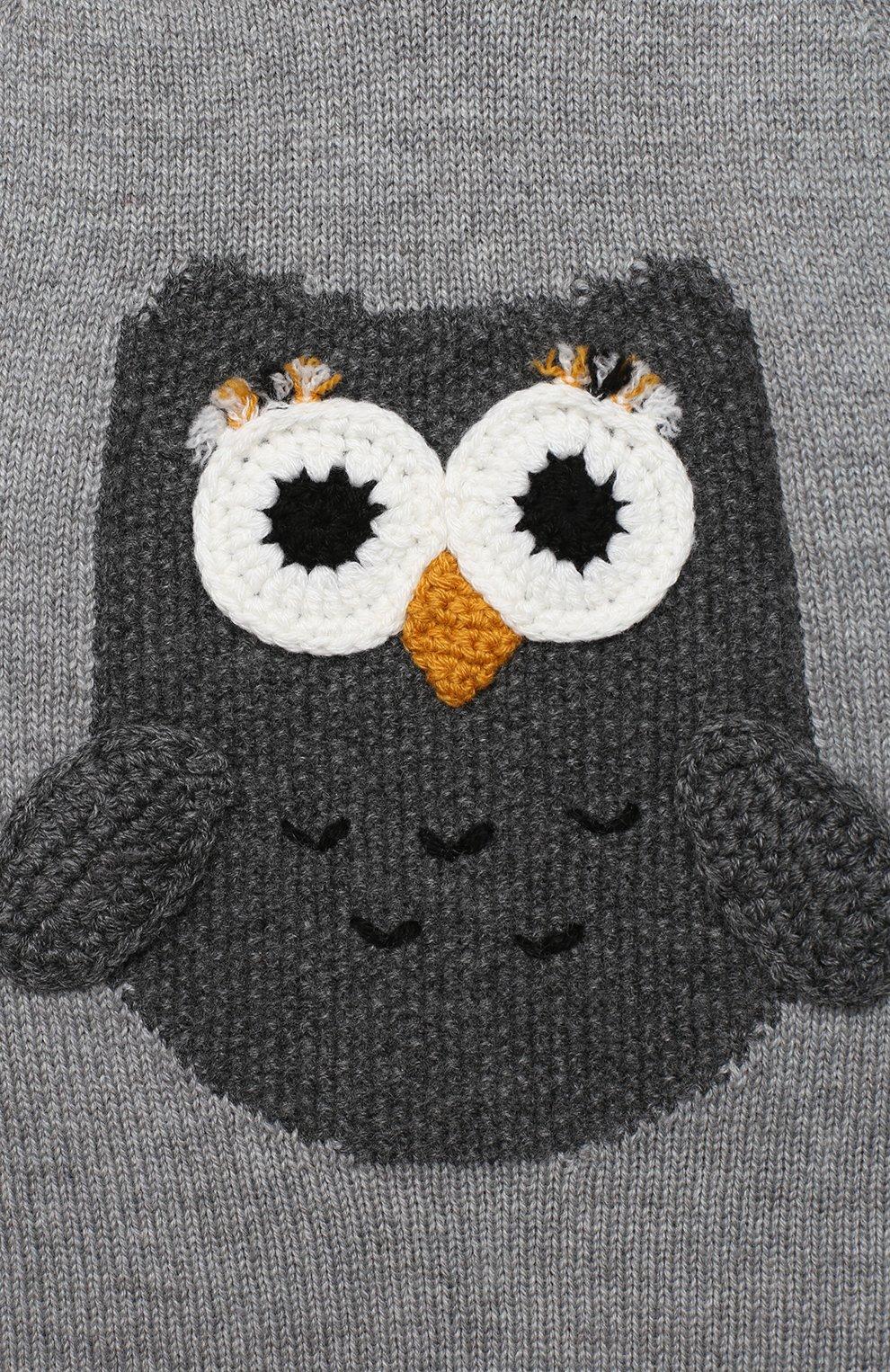 Детский кашемировый пуловер DOLCE & GABBANA серого цвета, арт. L2KWC0/JAW6B | Фото 3