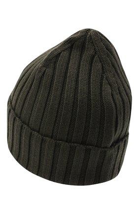 Женская шерстяная шапка MONCLER хаки цвета, арт. F2-093-9Z708-00-A9327 | Фото 2