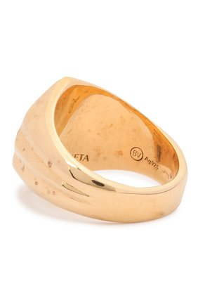 Женское кольцо BOTTEGA VENETA золотого цвета, арт. 637125/VAHU0   Фото 2 (Материал: Серебро)