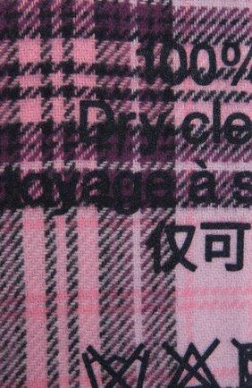 Женский шерстяной шарф ACNE STUDIOS розового цвета, арт. CA0082/W | Фото 2