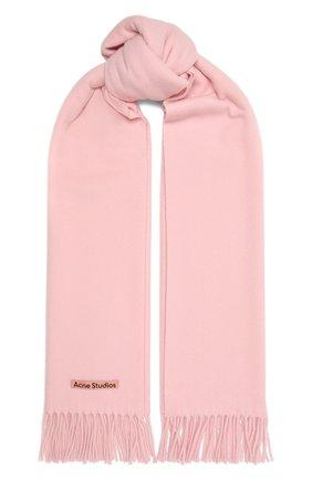 Женский шерстяной шарф ACNE STUDIOS розового цвета, арт. CA0102/W | Фото 1