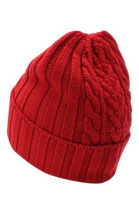 Женский шерстяная шапка MONCLER красного цвета, арт. F2-093-9Z706-00-A9146 | Фото 2