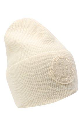 Женский шапка из шерсти и кашемира MONCLER белого цвета, арт. F2-093-9Z746-00-A9363 | Фото 1
