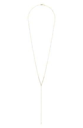 Женское колье J-POINT золотого цвета, арт. ИПГ857.35.290720.4Y   Фото 1