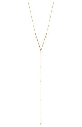 Женское колье J-POINT золотого цвета, арт. ИПГ857.35.290720.4Y   Фото 2