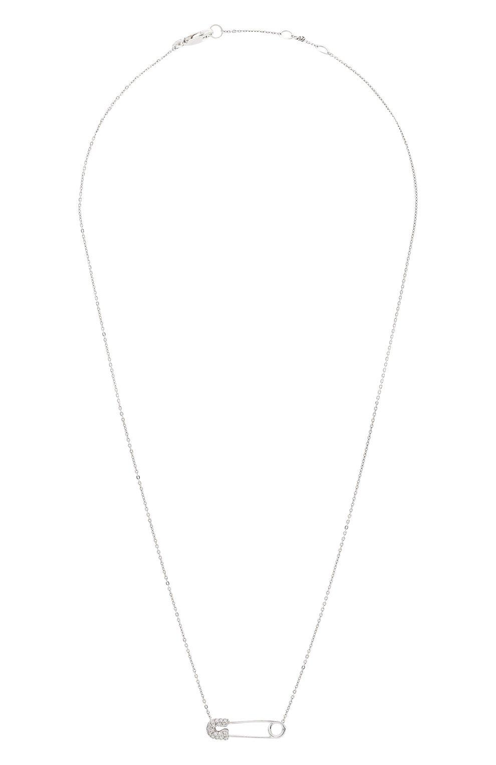 Женская колье J-POINT серебряного цвета, арт. ИПГ857.40.090920.18W   Фото 1 (Материал: Золото)