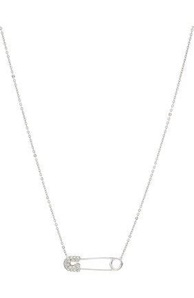 Женская колье J-POINT серебряного цвета, арт. ИПГ857.40.090920.18W   Фото 2 (Материал: Золото)