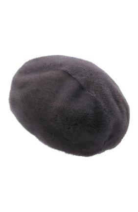 Женский берет из меха норки KUSSENKOVV серого цвета, арт. 10100008008 | Фото 2