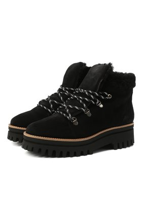 Женские замшевые ботинки PALOMA BARCELO черного цвета, арт. 058/1 DIEG0 SERRAJE/M0UT0N | Фото 1