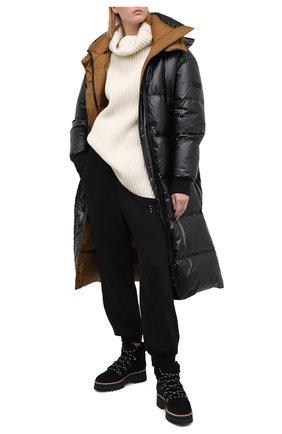 Женские замшевые ботинки PALOMA BARCELO черного цвета, арт. 058/1 DIEG0 SERRAJE/M0UT0N | Фото 2