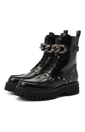 Женские кожаные ботинки CASADEI черного цвета, арт. 1R204R0401C10279000   Фото 1
