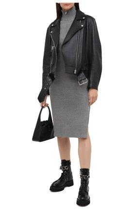 Женские кожаные ботинки CASADEI черного цвета, арт. 1R204R0401C10279000   Фото 2
