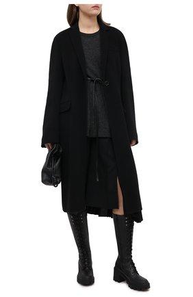 Женские кожаные сапоги c boots MONCLER черного цвета, арт. F2-09B-4G702-00-02SEP   Фото 2