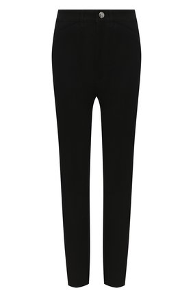Женские кожаные брюки SPRWMN черного цвета, арт. 5PK-001-S/5 P0CKET ANKLE PANTS | Фото 1
