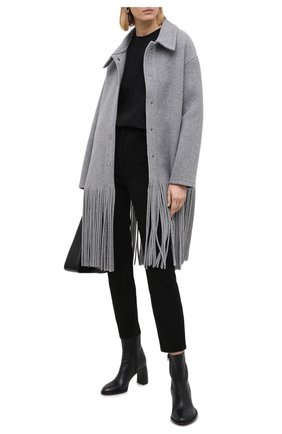 Женские кожаные брюки SPRWMN черного цвета, арт. 5PK-001-S/5 P0CKET ANKLE PANTS | Фото 2