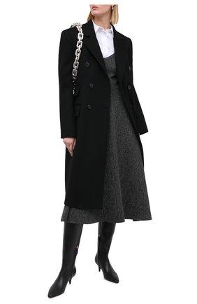 Женские кожаные сапоги TOM FORD черного цвета, арт. W2689T-LCL001 | Фото 2