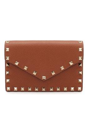 Женская сумка valentino garavani rockstud small VALENTINO коричневого цвета, арт. UW2P0Q58/VSH | Фото 1
