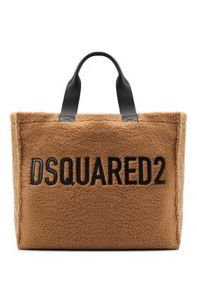 Женский сумка-шопер DSQUARED2 коричневого цвета, арт. SPW0022 09603211 | Фото 1
