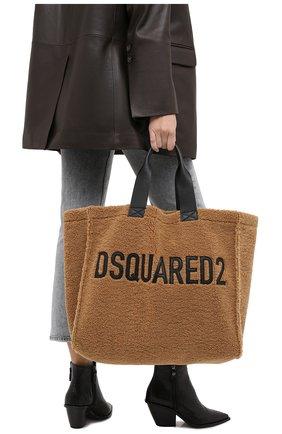 Женский сумка-шопер DSQUARED2 коричневого цвета, арт. SPW0022 09603211 | Фото 2