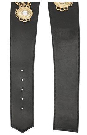 Женский кожаный пояс ALESSANDRA RICH черного цвета, арт. FABA2235-L007   Фото 2