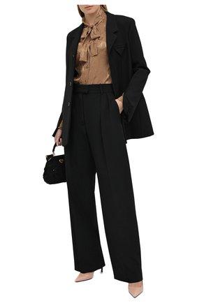 Женская шелковая блузка DOLCE & GABBANA бежевого цвета, арт. F5I11T/FJ1ID   Фото 2