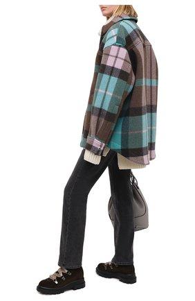 Женские замшевые ботинки AGL темно-зеленого цвета, арт. D756548VGKA082A210 | Фото 2