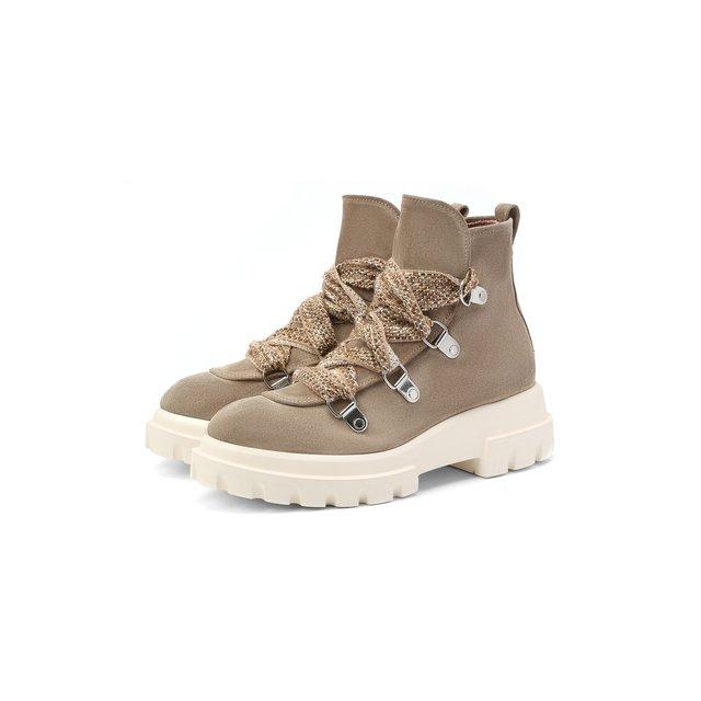 Замшевые ботинки AGL