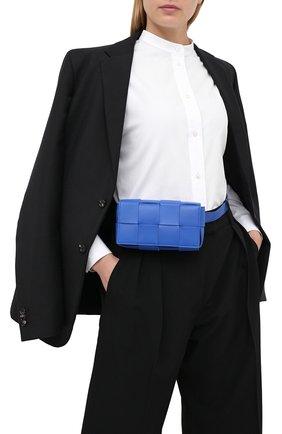 Женская поясная сумка cassette BOTTEGA VENETA синего цвета, арт. 639367/VMAY1 | Фото 2