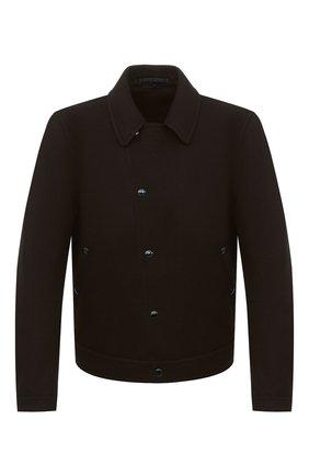 Мужская шерстяная куртка TOM FORD темно-коричневого цвета, арт. BV079/TF0363 | Фото 1