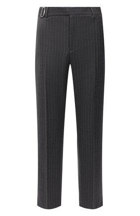 Мужские шерстяные брюки VALENTINO серого цвета, арт. UV0RBF706QJ | Фото 1 (Материал внешний: Шерсть; Длина (брюки, джинсы): Стандартные; Случай: Повседневный; Стили: Кэжуэл)