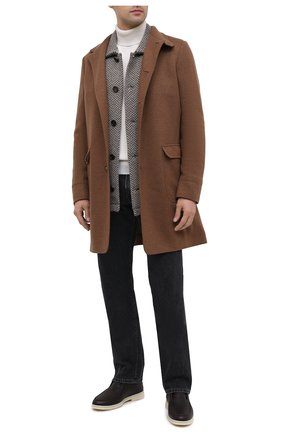 Мужские кожаные ботинки open wintery walk LORO PIANA темно-коричневого цвета, арт. FAL4243 | Фото 2
