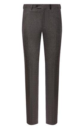 Мужские шерстяные брюки BRIONI коричневого цвета, арт. RPN20L/07AB4/GSTAAD | Фото 1