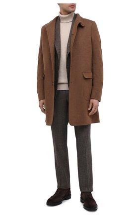 Мужские шерстяные брюки BRIONI коричневого цвета, арт. RPN20L/07AB4/GSTAAD | Фото 2