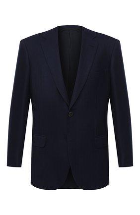 Мужской кашемировый пиджак BRIONI темно-синего цвета, арт. RGH00U/09309/PARLAMENT0 | Фото 1