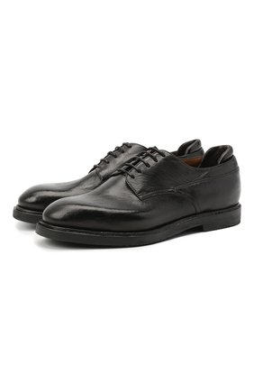 Мужской кожаные дерби SILVANO SASSETTI темно-серого цвета, арт. S19621X549DCVGLCHA. | Фото 1