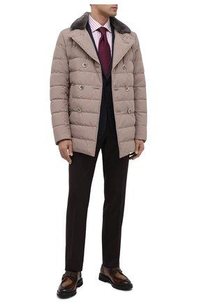 Мужские кожаные монки BARRETT коричневого цвета, арт. 202U042.12/BETIS CREAM | Фото 2
