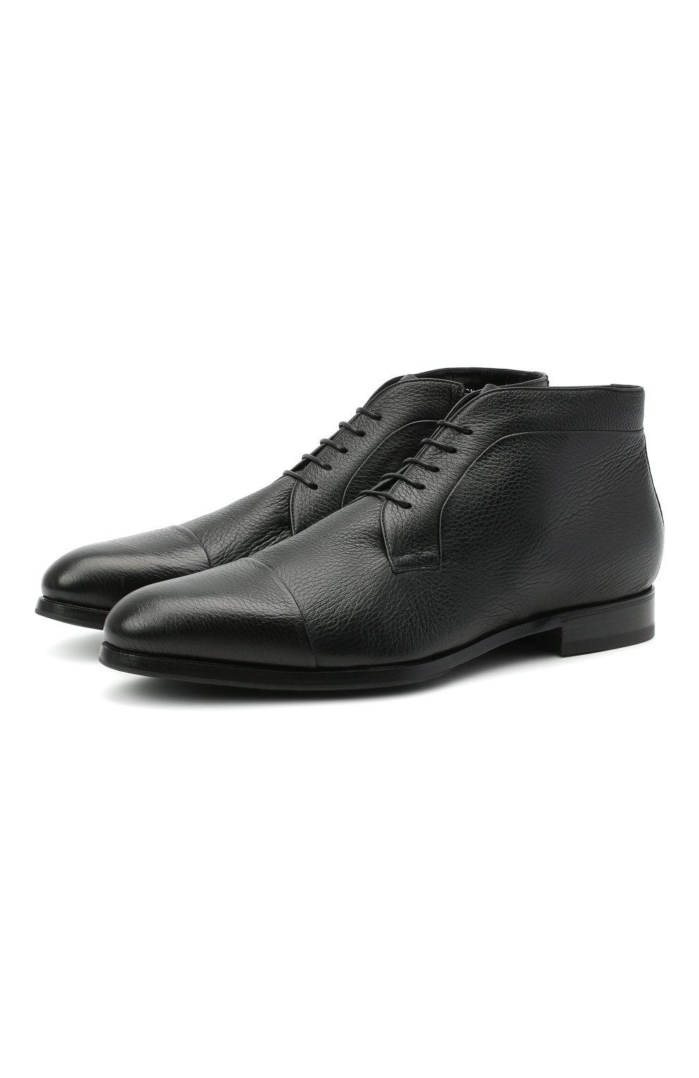 Мужские кожаные ботинки BARRETT черного цвета, арт. B182U007.1/CERV0 | Фото 1