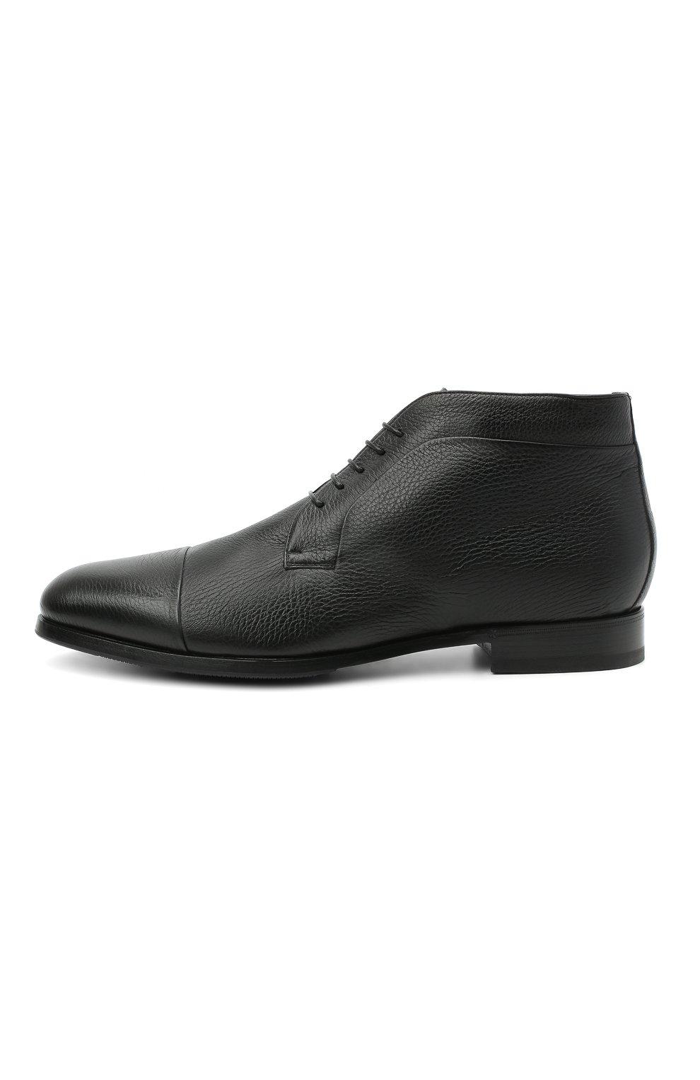 Мужские кожаные ботинки BARRETT черного цвета, арт. B182U007.1/CERV0 | Фото 3