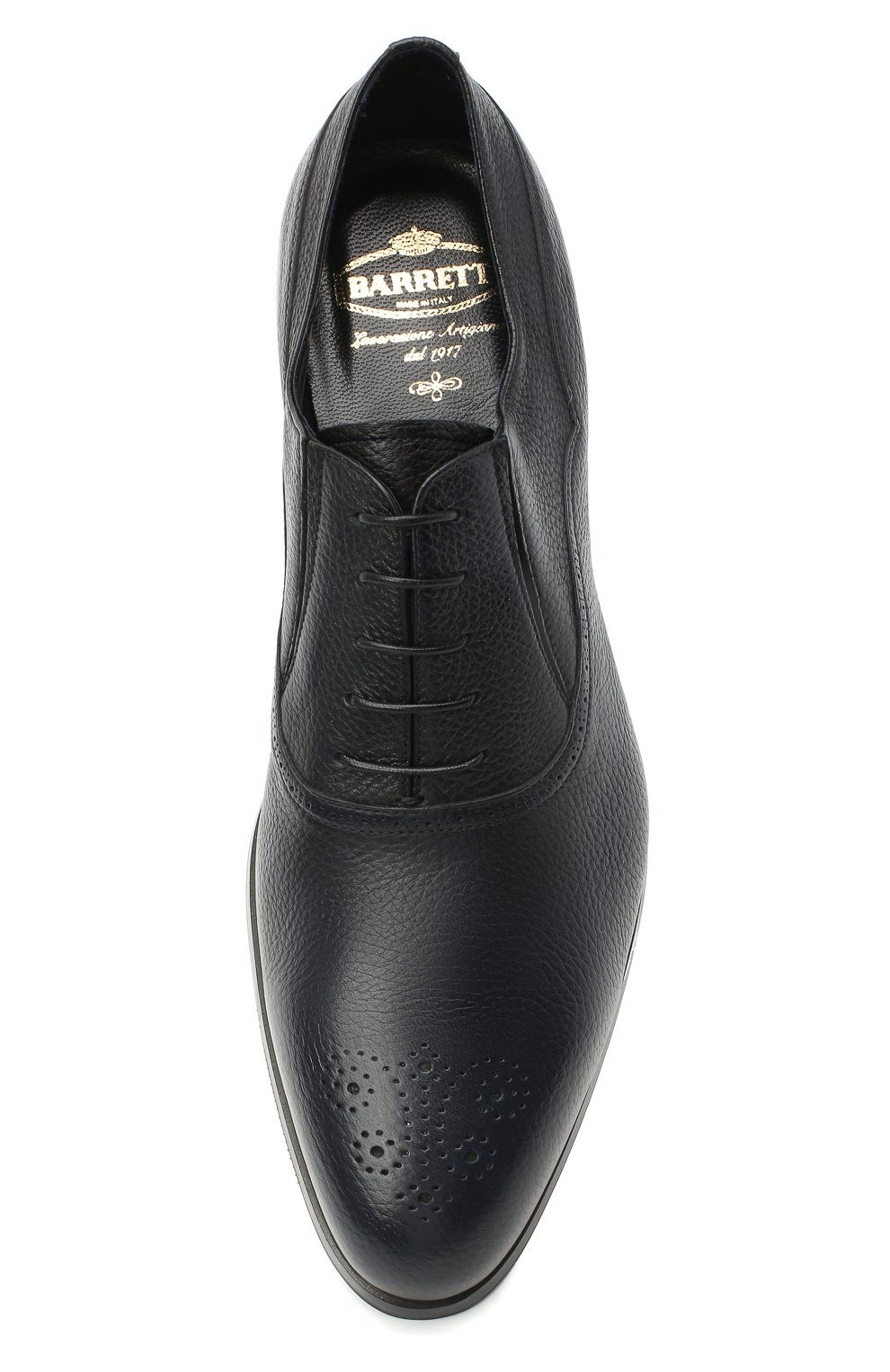 Мужские кожаные оксфорды BARRETT темно-синего цвета, арт. B182U051.1/CERV0 ASP0RTABILE | Фото 5