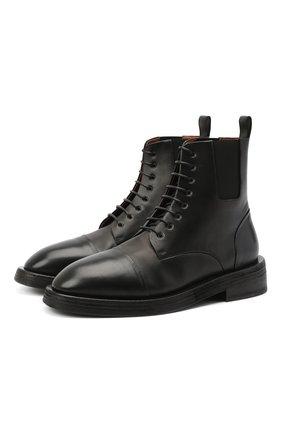 Мужские кожаные ботинки MARSELL черного цвета, арт. MM4070/PELLE VITELL0 | Фото 1