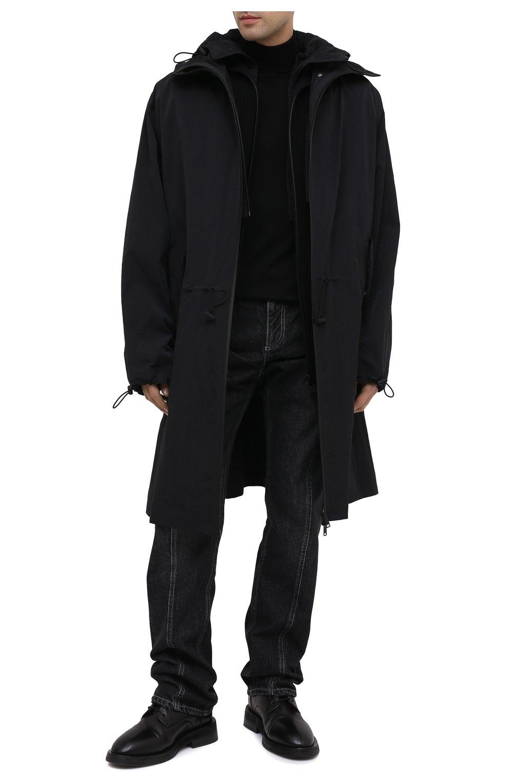 Мужские кожаные ботинки MARSELL черного цвета, арт. MM4070/PELLE VITELL0 | Фото 2 (Мужское Кросс-КТ: Ботинки-обувь; Материал внутренний: Натуральная кожа; Подошва: Плоская)