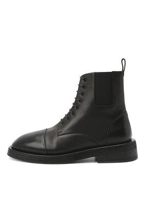 Мужские кожаные ботинки MARSELL черного цвета, арт. MM4070/PELLE VITELL0 | Фото 3 (Мужское Кросс-КТ: Ботинки-обувь; Материал внутренний: Натуральная кожа; Подошва: Плоская)