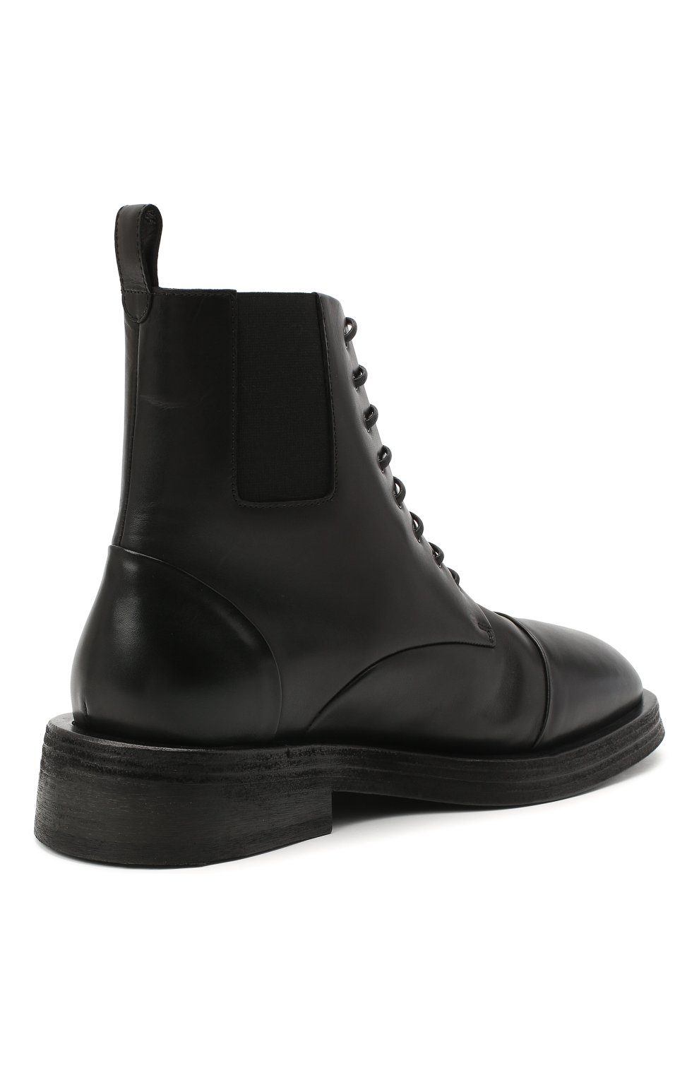 Мужские кожаные ботинки MARSELL черного цвета, арт. MM4070/PELLE VITELL0 | Фото 4 (Мужское Кросс-КТ: Ботинки-обувь; Материал внутренний: Натуральная кожа; Подошва: Плоская)