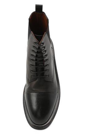 Мужские кожаные ботинки MARSELL черного цвета, арт. MM4070/PELLE VITELL0 | Фото 5 (Мужское Кросс-КТ: Ботинки-обувь; Материал внутренний: Натуральная кожа; Подошва: Плоская)